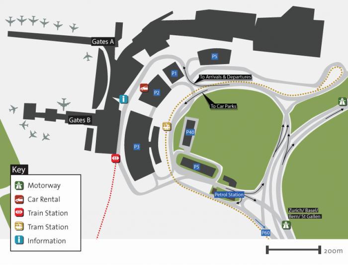 аэропорт цюриха схема