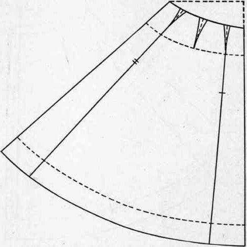 платье с юбкой колокол выкройка для девочки #3