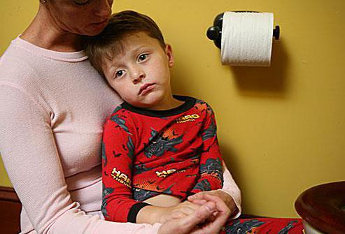 расстройство желудка у детей