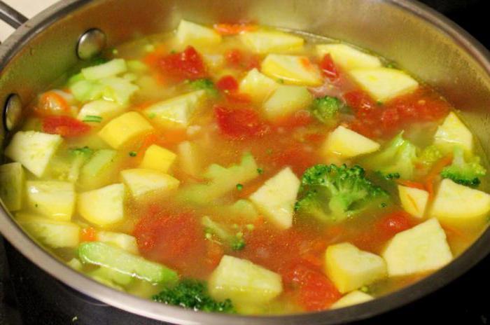 постный суп рецепт с кабачками и
