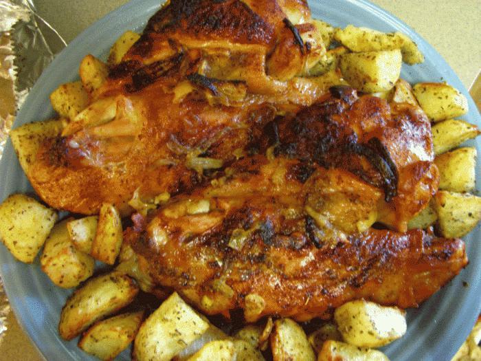 куриные крылышки с овощами рецепты в духовке с