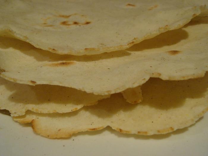 Шаурма из готовых пшеничных лепешек