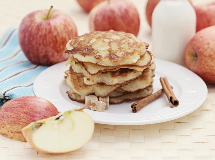 Яблочные оладьи рецепт с фото на молоке