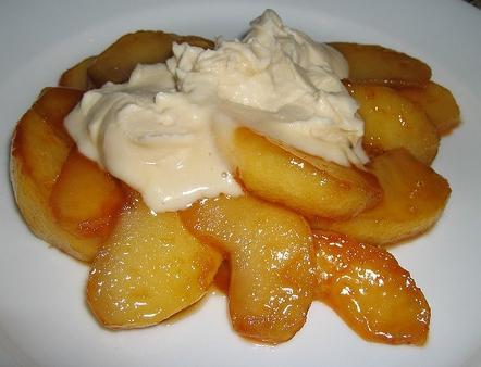 рецепт карамелизированных яблок