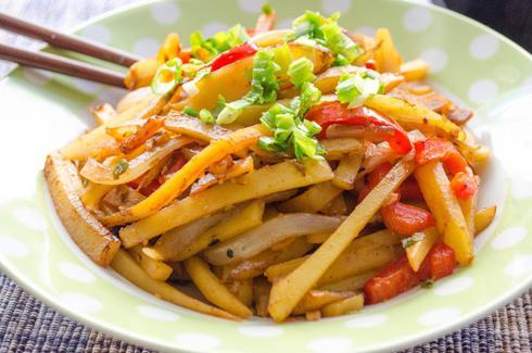 картошка по корейски с мясом