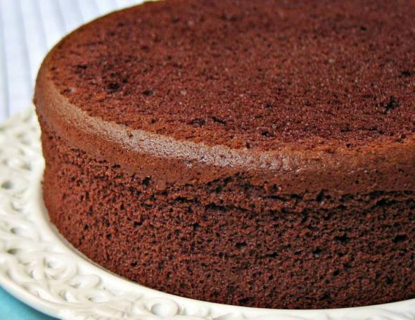 Шоколадный бисквит для торта рецепт с фото