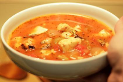 суп из консервы сардины в томатном соусе
