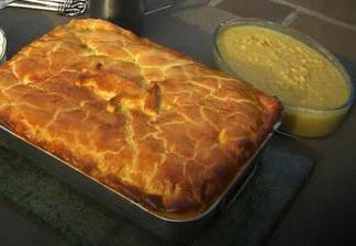 """Мясной пирог """"На охоту"""" – кулинарный рецепт"""