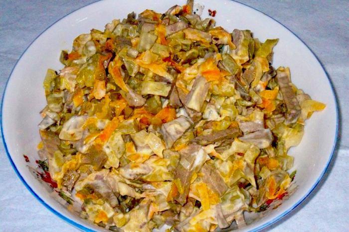 Обжорка с говядиной салат рецепт с фото пошагово