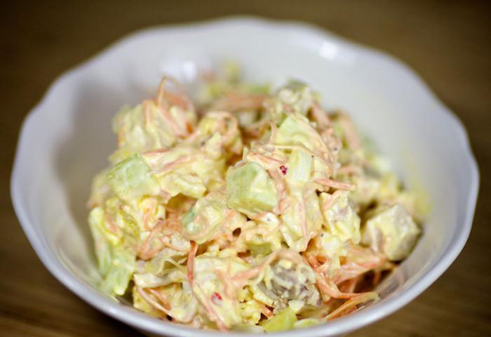 салат пекинская капуста копченая грудка
