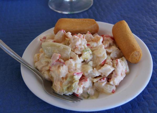 рецепт салата с кускусом и крабовыми палочками