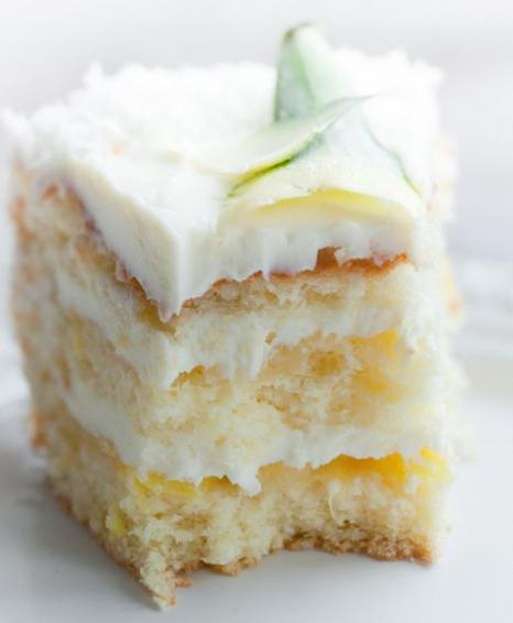 Рецепт торта с творожным кремом и фруктами