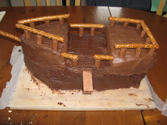 торт из мастики корабль