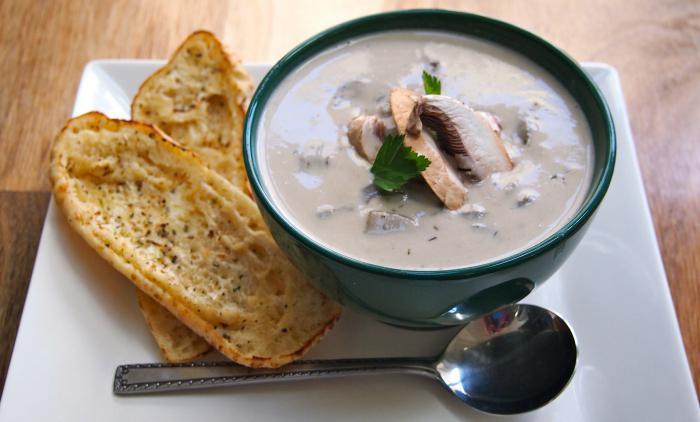 рецепт постного грибного супа из шампиньонов