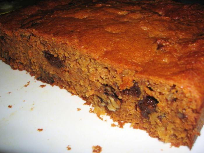 морковный пирог постный рецепт