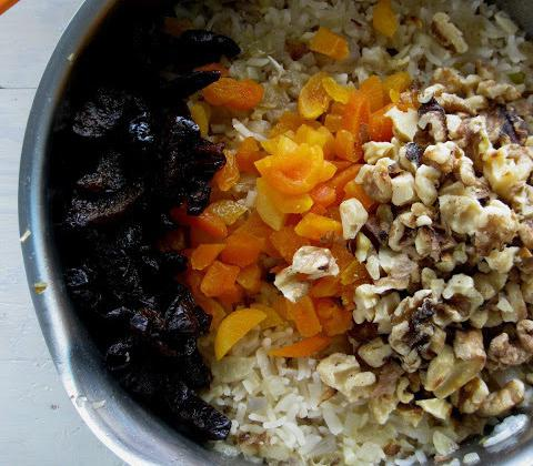 блюда из риса с овощами