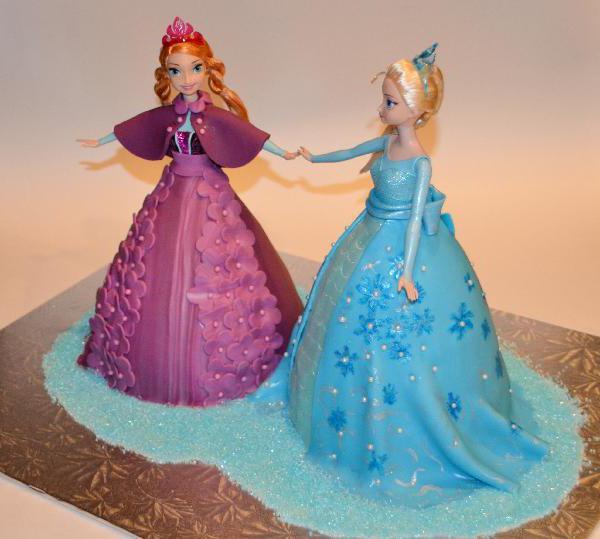 Детский торт из мастики для девочки