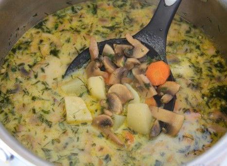 как приготовить суп пюре из шампиньонов с картофелем рецепт