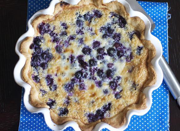 Жидкое тесто для пирога с ягодами