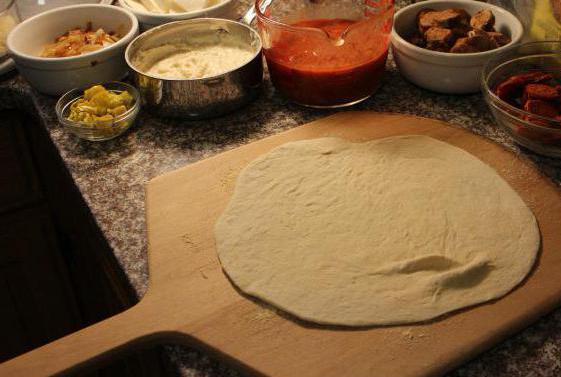 пицца рецепт в домашних условиях тонкая