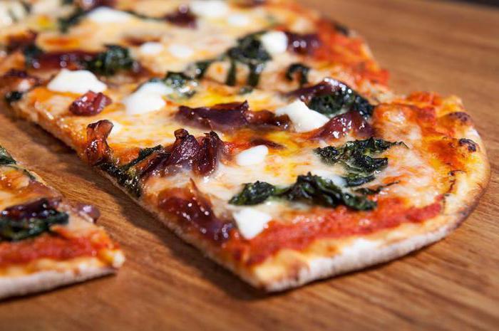 Вкусная тонкая пицца рецепт с фото
