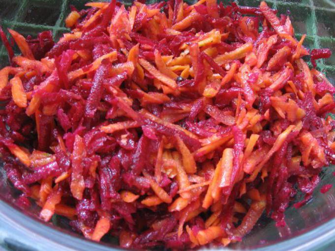 на зиму салат с красной свеклой