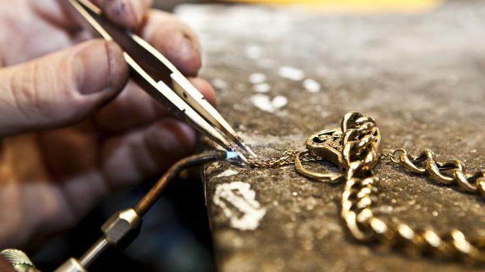 ремонт золотой цепочки адреса