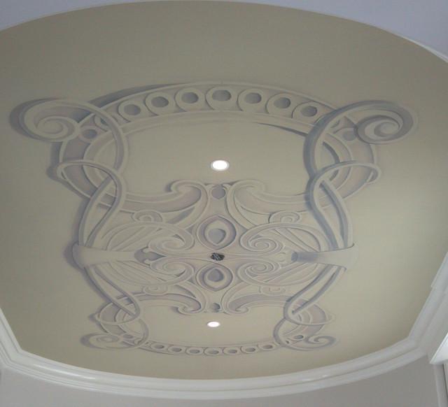 сначала рисунки на потолок в стиле модерн фото которые
