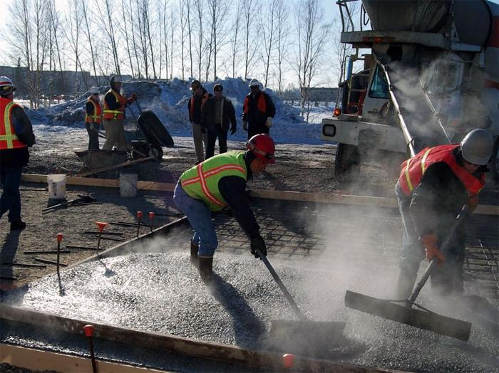 температура заливки бетона