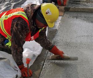 минимальная температура для заливки бетона