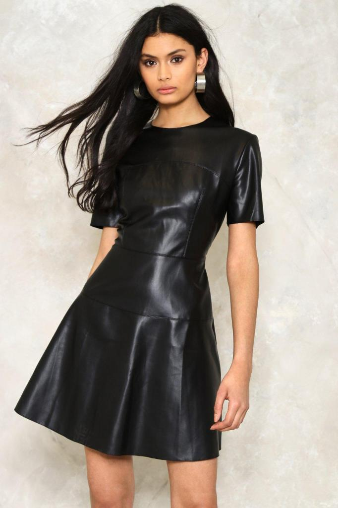how to pat a leather dress
