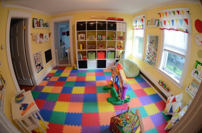 мягкое напольное покрытие для детской комнаты