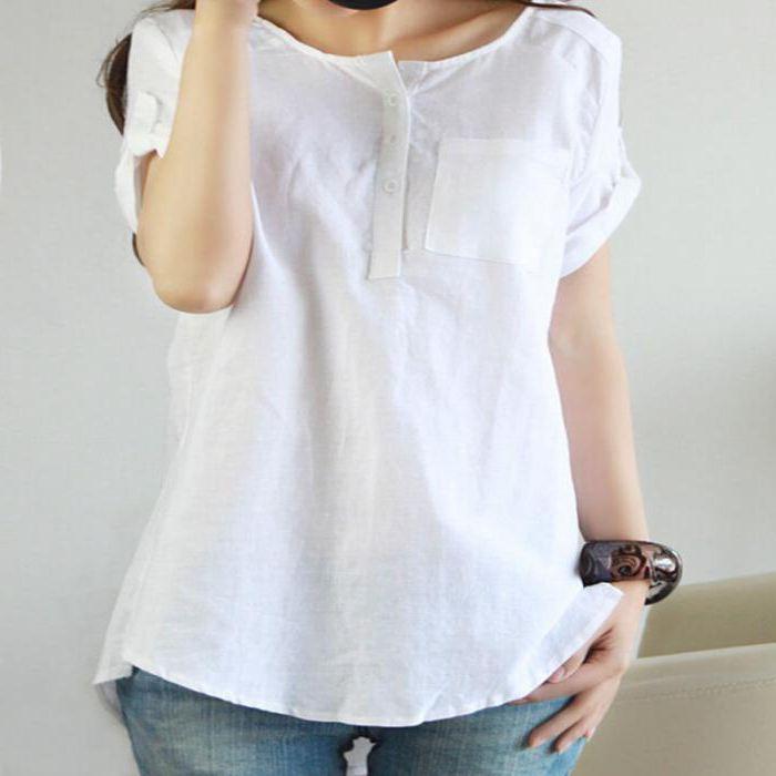 женская блузка из льна