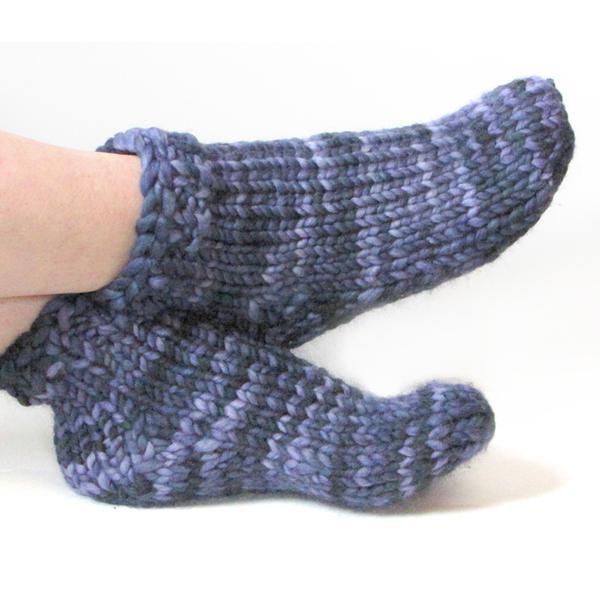 детские носки на двух спицах