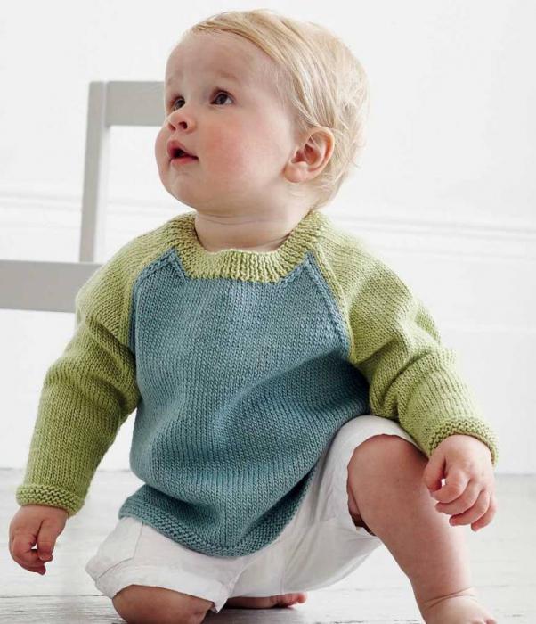 вязание для детей спицами реглана