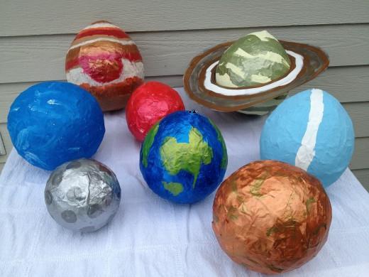 Из чего сделать макет планеты своими руками