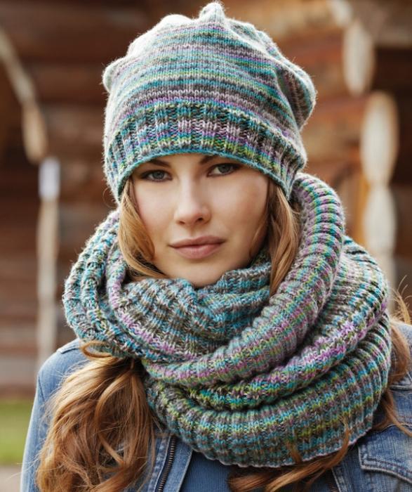 Шапка и шарф снуд связать своими руками 30