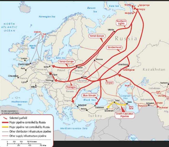 Основной маршрут газопровода