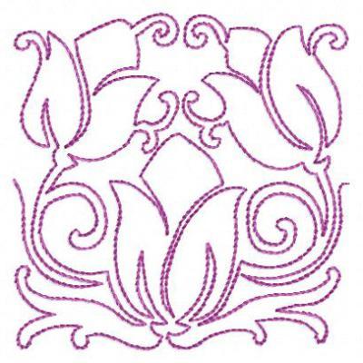 татарский орнамент тюльпан