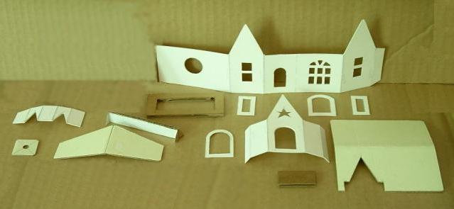 Дом из бумаги схемы распечатать 97