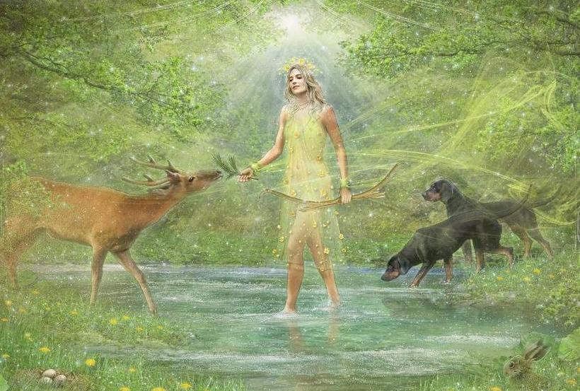 Devan with animals.