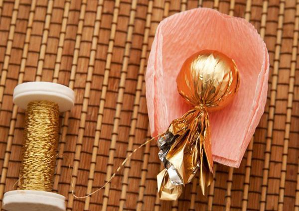 букет роз из гофрированной бумаги 3