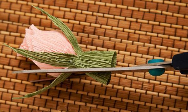 букет роз из гофрированной бумаги 4