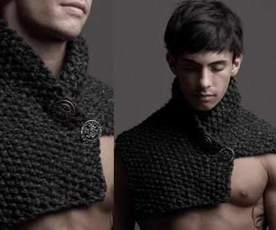 вязание манишки спицами для мужчин