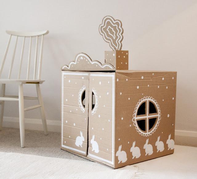 Пряничный домик из картона своими руками