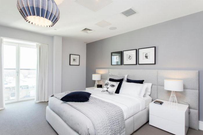 гостиная спальня в светлых тонах