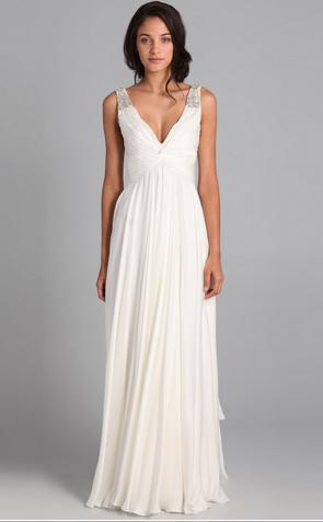 Белые платья в пол со шлейфом