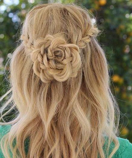 легкие прически на выпускной на средние волосы