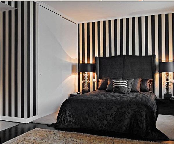 Дизайн комбинированных обоев для спальни фото
