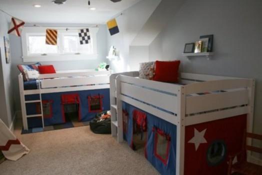 Комната для двух мальчиков разного возраста: оформление, зонирование, идеи дизайна, фото